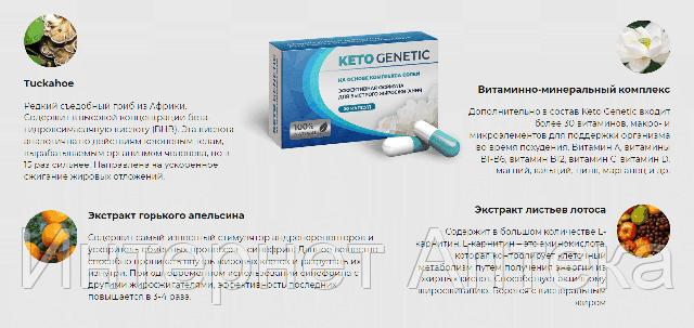 Капсулы для похудения Keto Genetic -Кето Генетик