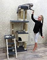 Домики для кошек купить в Украине, домик игровой комплекс для кошки, высокий и крепкий.