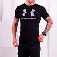 Футболка мужская спортивная Under Armour X black | ЛЮКС, фото 1