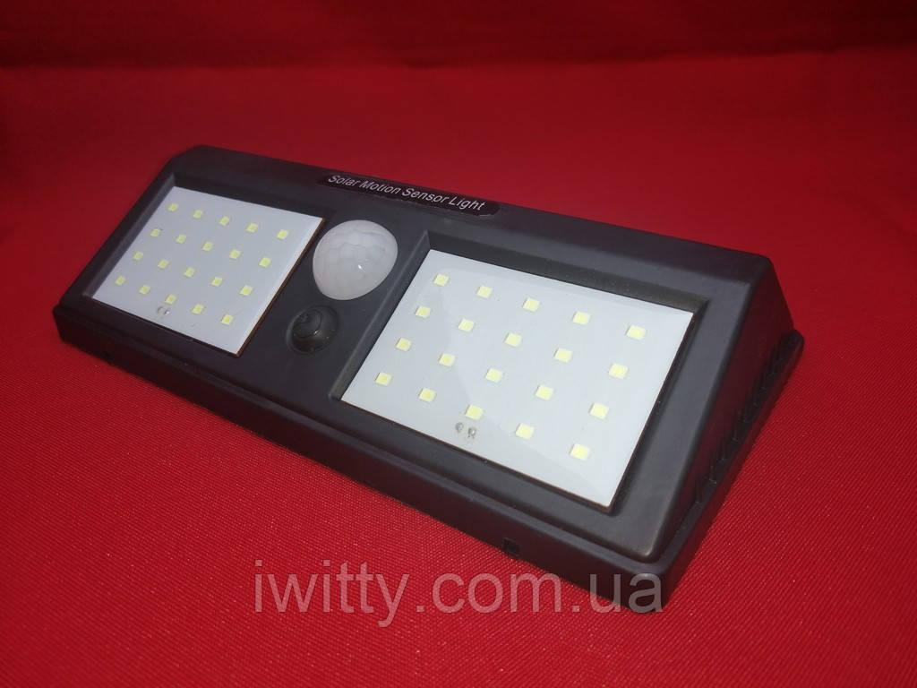 Светодиодный навесной фонарь с датчиком  движения, 40 LED