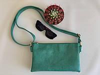 Женская сумочка клатч повседневная через плечо весна-лето зеленая Pretty Woman Одесса, фото 1