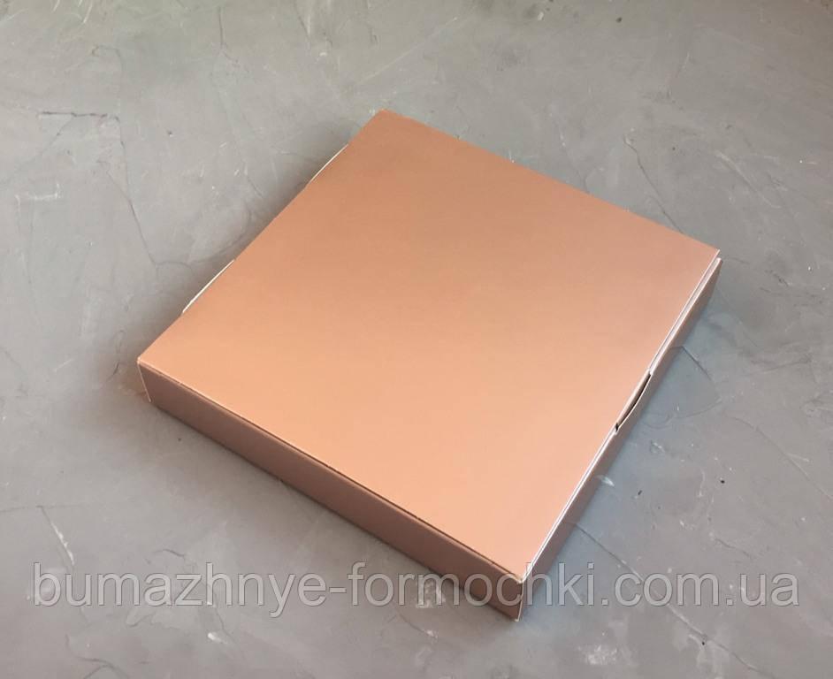 Коробка на 16 конфет,цвета металлик. 185х185х30