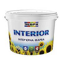 Краска для стен и потолков интерьерная Зебра Interior (10 л)