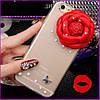 "Lenovo A6010 A6000 прозрачный PC чехол накладка бампер для телефона со стразами камнями ""SPACE ROSE"", фото 3"