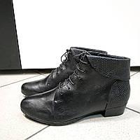 Ботинки женские черные на шнуровке кожа Gerry Weber, 38