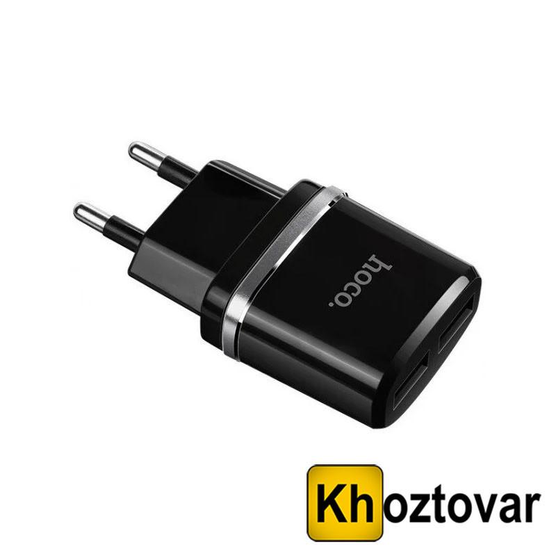 Зарядное устройство на 2 USB порта Hoco C12