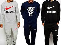 Спортивный костюм мужской серый/черный/темно-синий Nike Найк