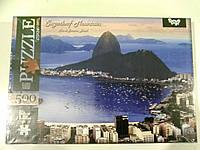 Пазлы 500 элементов. Пазлы Рио де Жанейро Бразилия,Детские развивающие пазлы и головоломки.