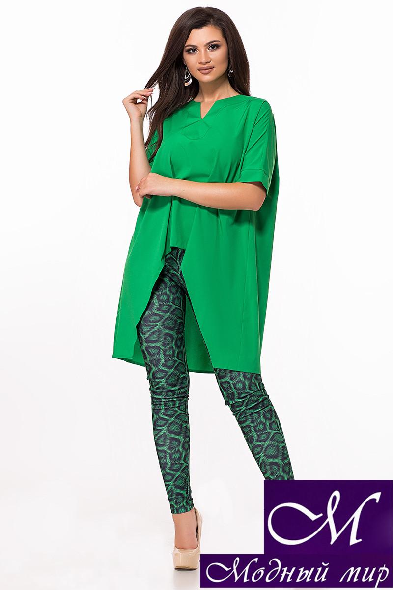 Зеленый женский костюм туника + лосины (р. S-M, M-L) арт. 28-620