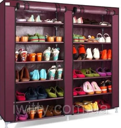 Компактный тканевый шкаф для обуви и одежды, фото 2