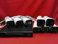 Система наблюдения на 8 камеры AHD KIT 1080P