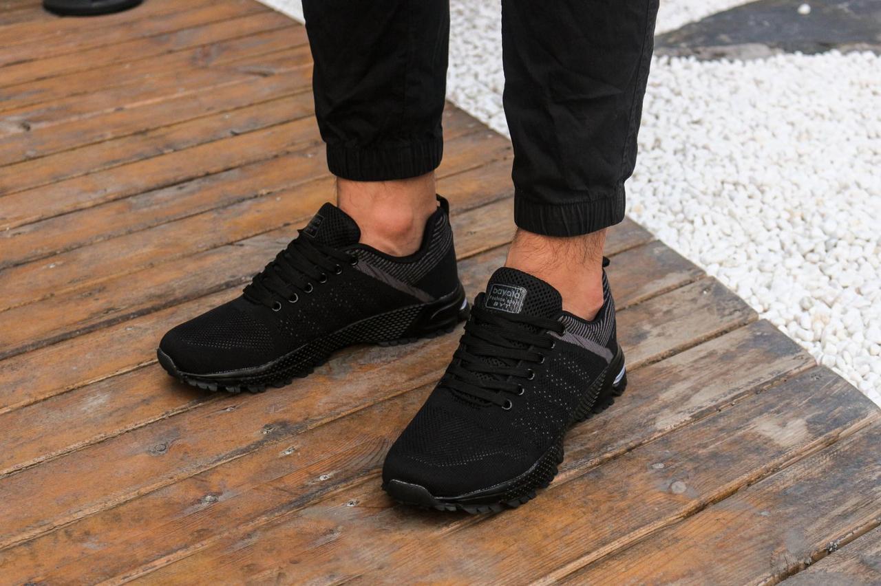 Кроссовки из сетки летние Bayota A019 чёрные