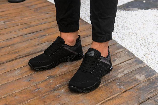 Кроссовки из сетки летние Bayota A019 чёрные, фото 2