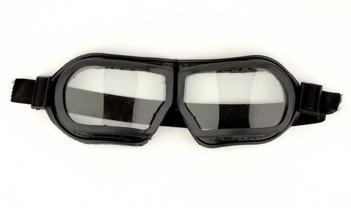 Очки защитные на резинке синие, фото 2