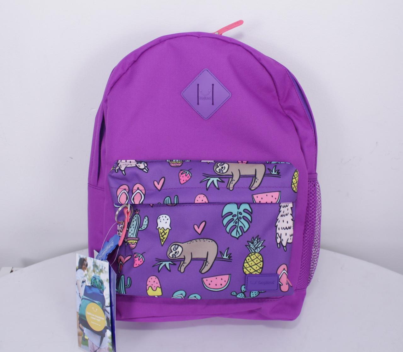 Рюкзак городской молодежный Bagland 17 л. принт ленивцы
