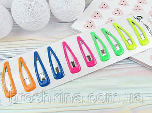 Шпильки тік-так, з силіконовим покриттям 5,5 см кольорові 10 шт/уп.