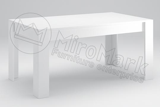 "Стол столовый ""Терра 1,6*0,95"" Глянец белый ТМ ""Миро марк"", фото 2"