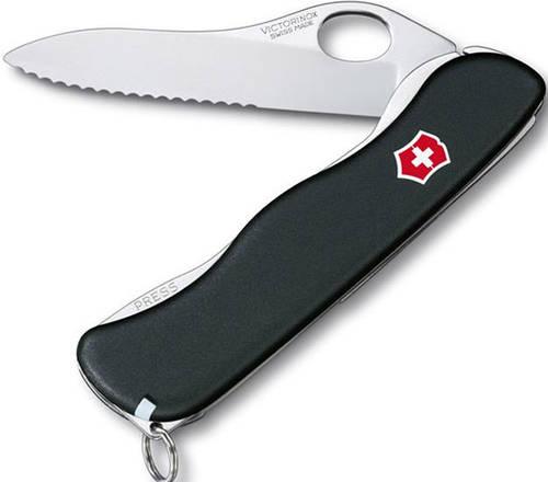 Складной удобный нож Victorinox Sentinel 08416.MW3 черный