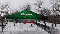 Большой зонт 4х4 метра для бара или кафе,тросовый, квадратный, садовый, барный, торговый, уличный, дачный, фото 2