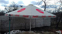 Большой зонт 4х4 метра для бара или кафе,тросовый, квадратный, садовый, барный, торговый, уличный, дачный, фото 3