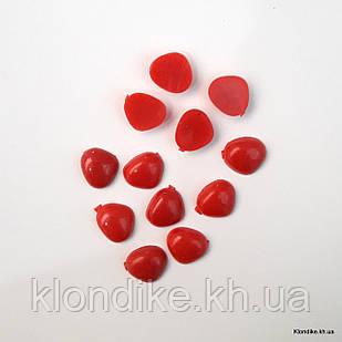 Носики для игрушек, высота: 10 мм, ширина: 11 мм, Цвет: Красный (10 шт.)