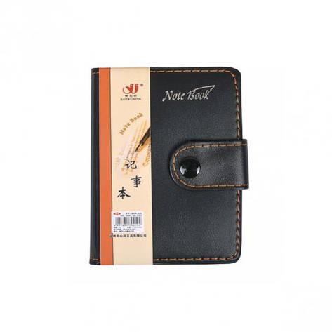 Блокнот 11*8см с ручкой в обложке     Артикул: 6101, фото 2
