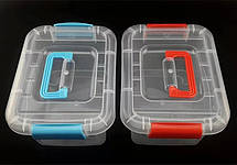 Пластиковый бокс - контейнер с ручкой,средний ( Судок для продуктов), фото 3