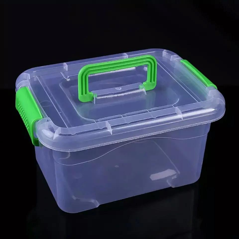Пластиковый бокс - контейнер с ручкой,средний ( Судок для продуктов)