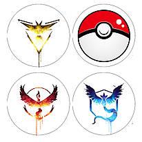 Значок Білий Покемон го/Pokemon Go Instinct/Mystic/Valor