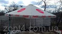 Тент на садовый зонт 4х4 метра уличный торговый для кафе, замена тентов, фото 2