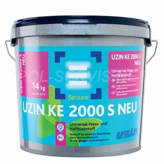 Клей для ПВХ покрытий UZIN КЕ 2000 S NEU (14 кг)