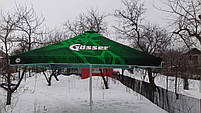 Тент на торговый зонт 4х4 метра замена тентов на садовых зонтах, барный для кафе, фото 2