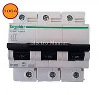 Автомат 100A 3П тип C Schneider C120N (автоматический выключатель)