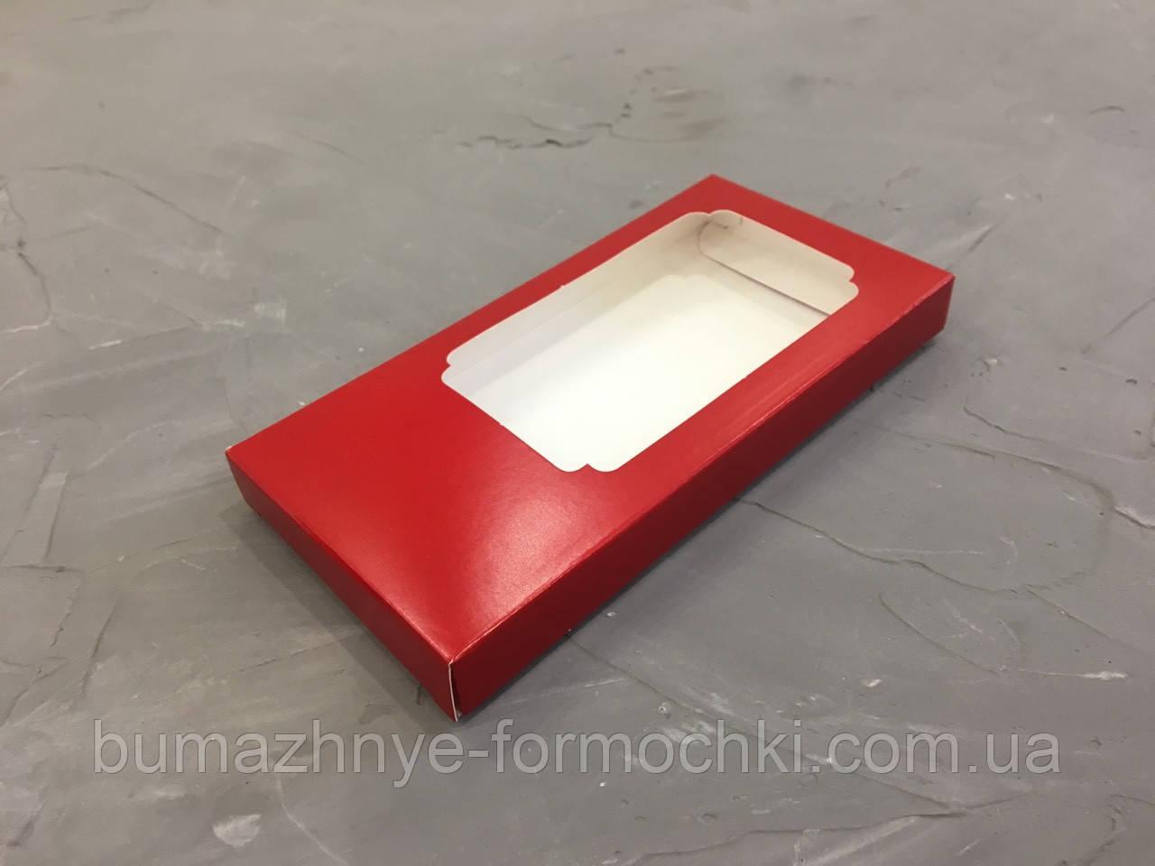 Коробка для шоколада,красная, 160*80*17