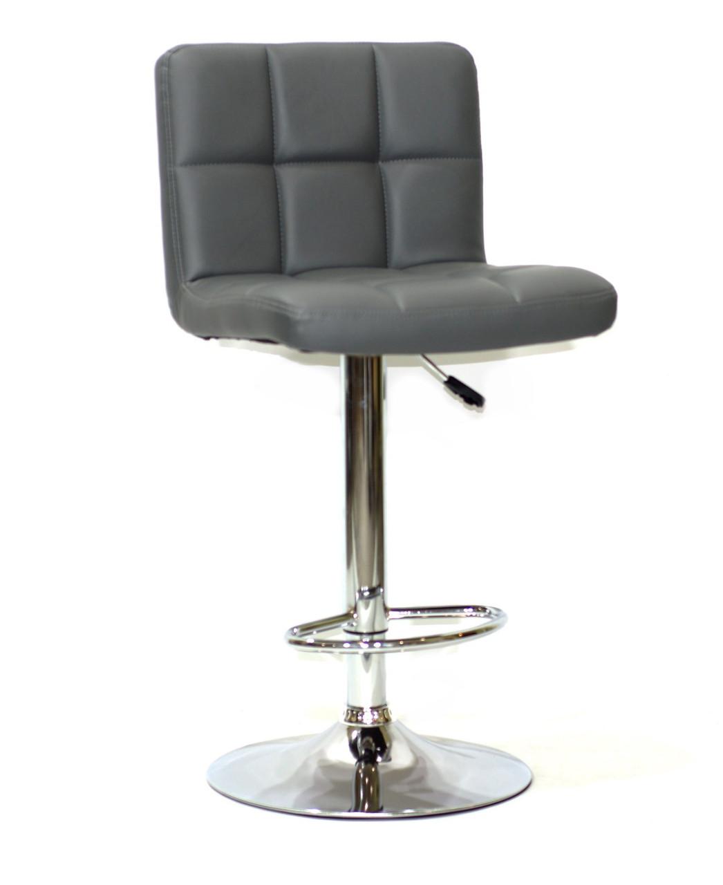 Барный стул Арно серый кожзам + хром/ Arno  BAR CH - Base