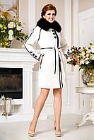 Женское зимнее пальто с натуральным мехом песца, разные цвета