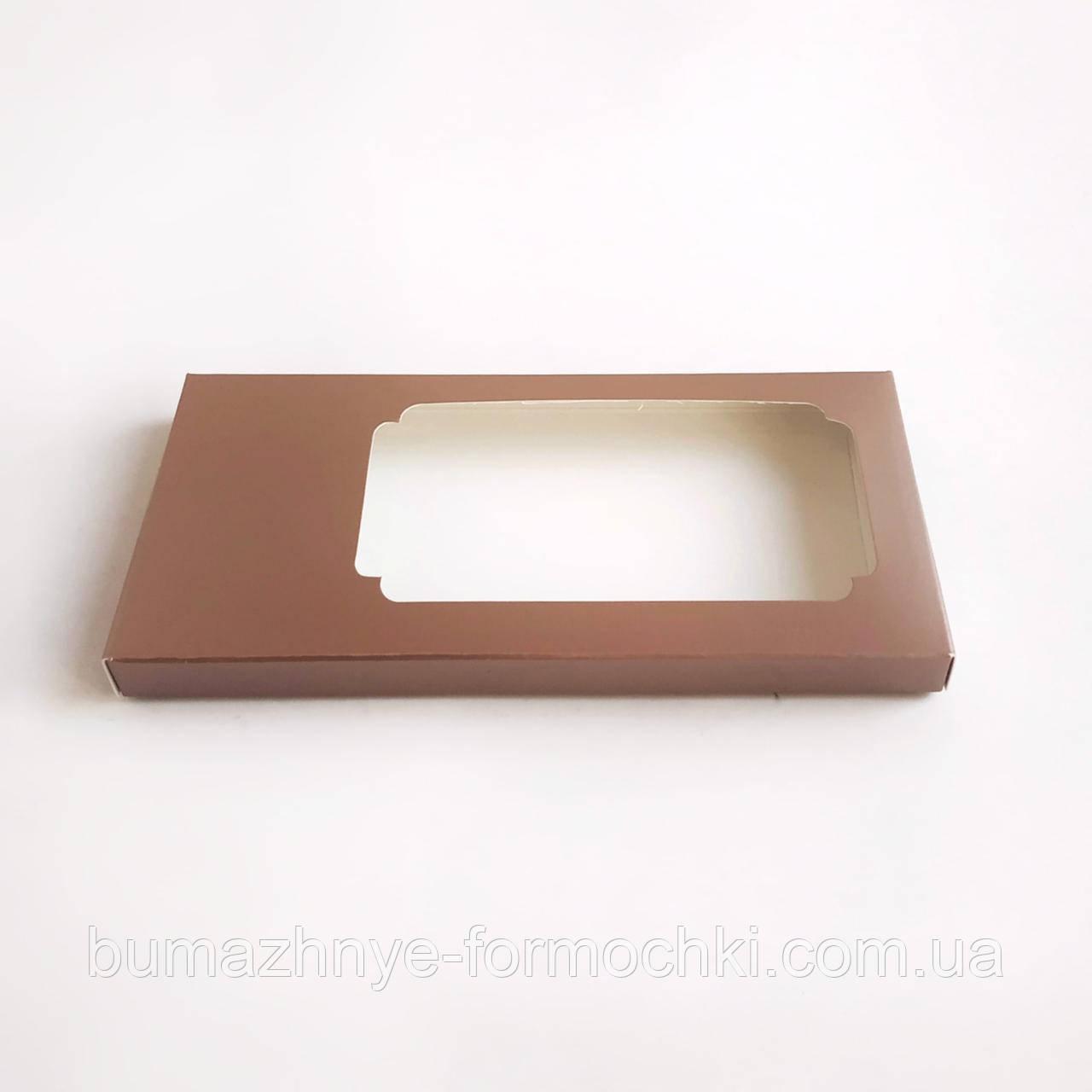 Коробка для шоколада, коричневый металлик, 160х80х17 мм