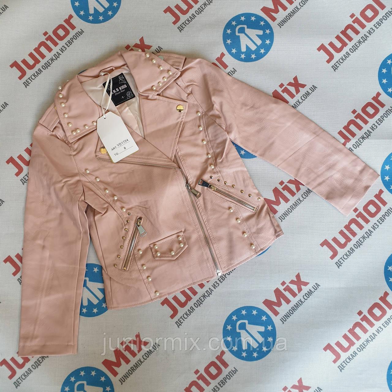 Подростковая куртка весенняя на девочку из кожзам оптом J.N.S.KIDS