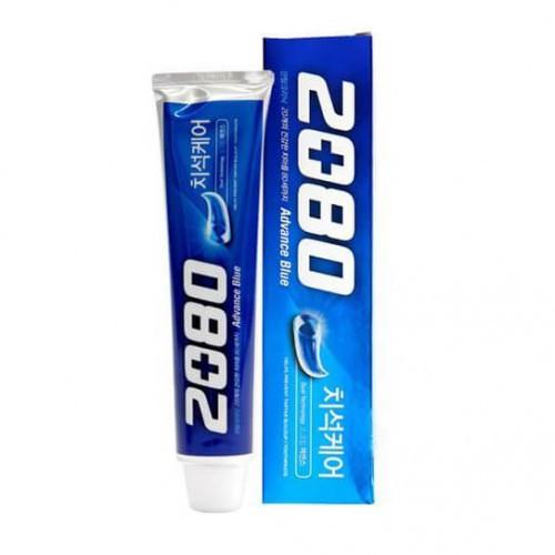Отбеливающая зубная паста со скрабирующими крупинками Aekyung 2080 Advance Toothpaste Scrub Essence Blue, 120г