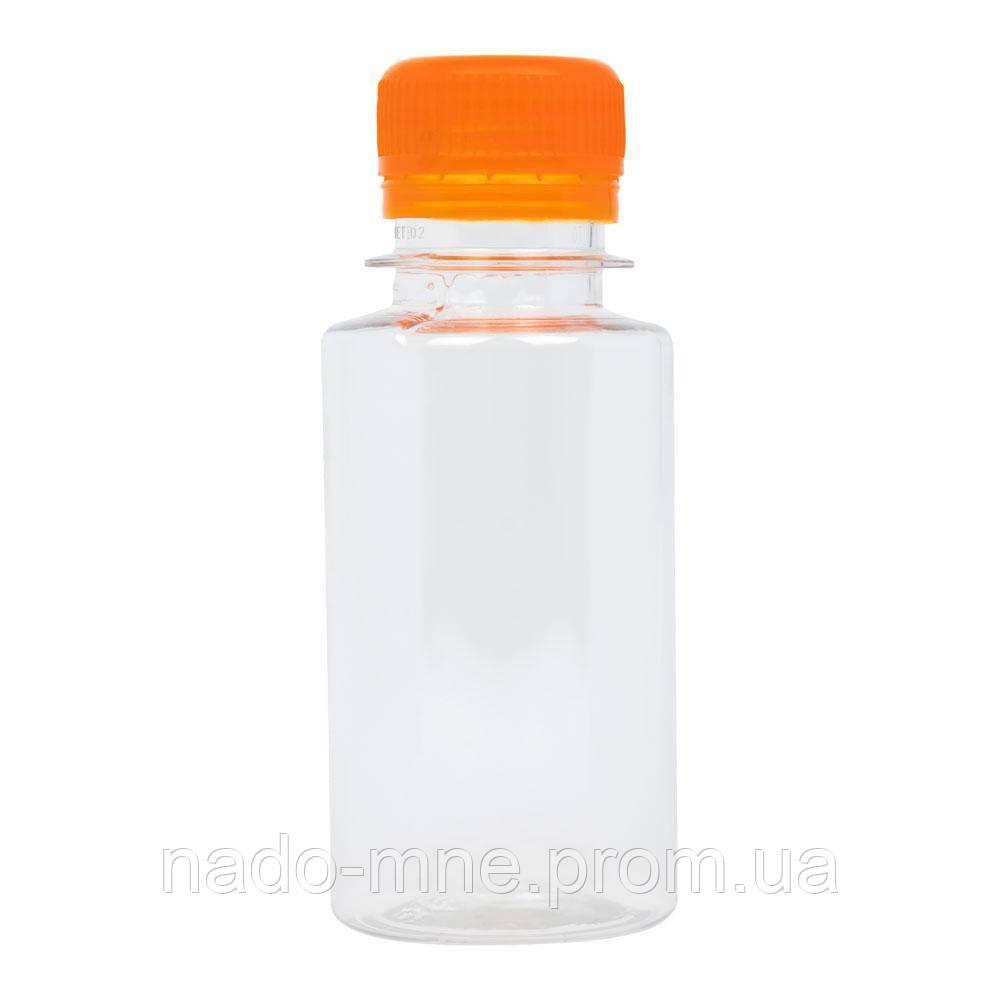 Пляшка пластикова 100 мл - 0,1 л. з широким горлом Оптові ціни в роздріб! жовтий
