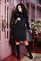 Женское оригинальное зимнее пальто с натуральным мехом, разные цвета