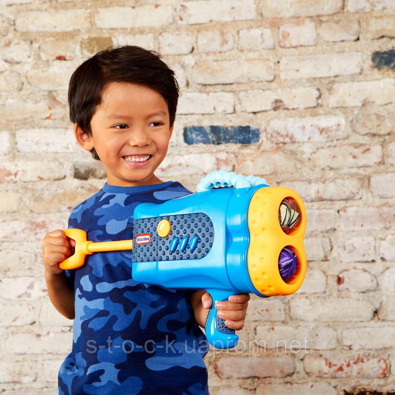 Little Tikes! Двойной игрушечный бластер Mighty Blasters с 6 мягкими мячиками от Little Tikes