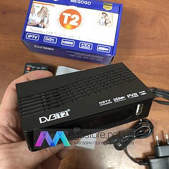 Цифровой ресивер тюнер DVB T2 Megogo приставка Мегого для цифрового телевидения DVB-T2 Wi-Fi IPTV USB