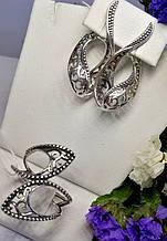 Необычный серебряный комплект Пенелопа