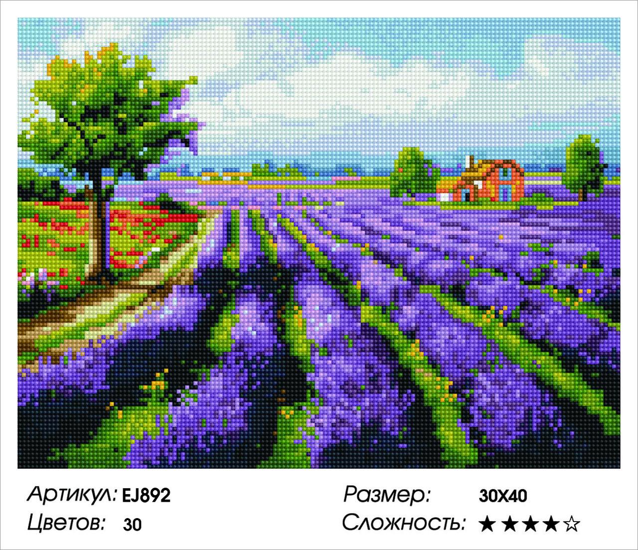 Алмазная живопись 30*40см. EJ892 Прованс Rainbow Art , алмазная мозайка