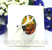 Овальное серебряное кольцо с камнем опал Франсуаза