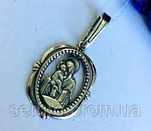 Серебряная ладанка Божией Матери Владимирская