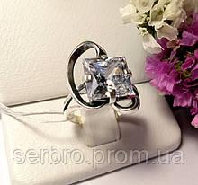 Колечко в серебре с белым цирконом Эпл