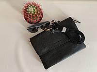 Женский клатч черный сумка женская городская на длинном плечевом ремешке Pretty Woman Одесса, фото 1