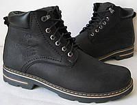 Мужские зимние кожанные ботинки Wrangler черные, фото 1
